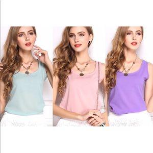 Tops - SALE 5 for $25 Light chiffon summer blouse